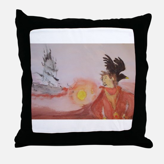 The Dark Tower Watercolor Painting Throw Pillow