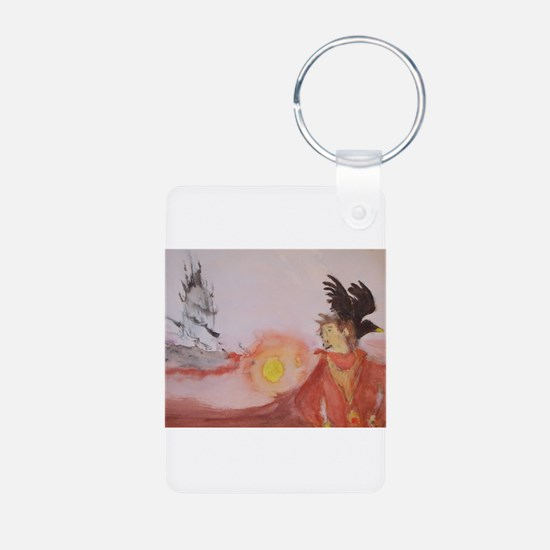 The Dark Tower Watercolor Painting Keychains