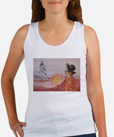 The Dark Tower Watercolor Painting Women's Tank To