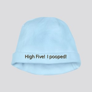 High Five - I Pooped baby hat