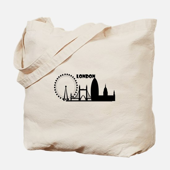 Funny London eye Tote Bag