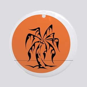 Tribal Palm Tree Ornament (Round)