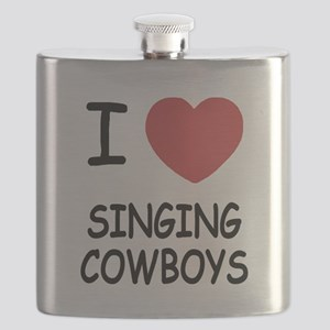 I heart singing cowboys Flask