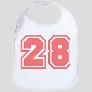 Varsity Uniform Number 28 (Pink) Bib