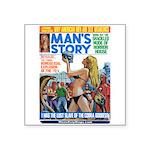 "MANS STORY, April 1970 Square Sticker 3"" x 3&"