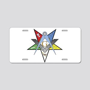 OES Past Patron Aluminum License Plate