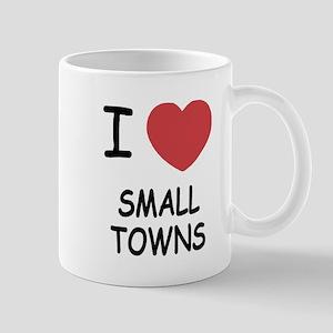 I heart small towns Mug