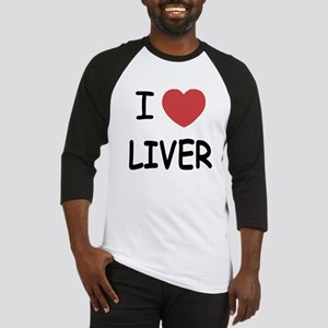 I heart liver Baseball Jersey