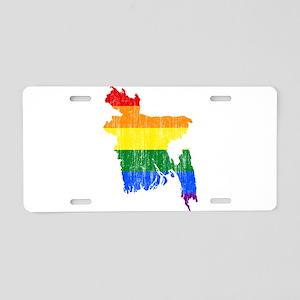 Bangladesh Rainbow Pride Flag And Map Aluminum Lic