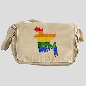 Bangladesh Rainbow Pride Flag And Map Messenger Ba