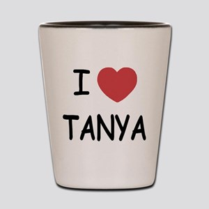 I heart TANYA Shot Glass