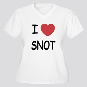 I heart snot Women's Plus Size V-Neck T-Shirt