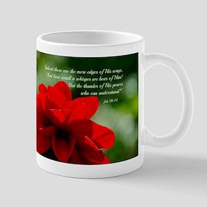 Dahlia Job 26:14 Mug