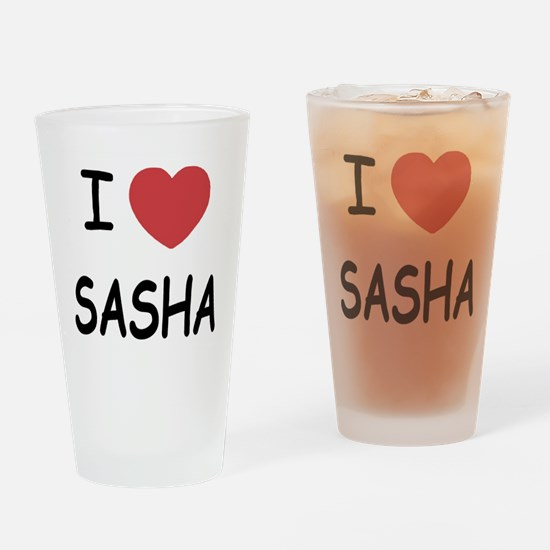 I heart SASHA Drinking Glass