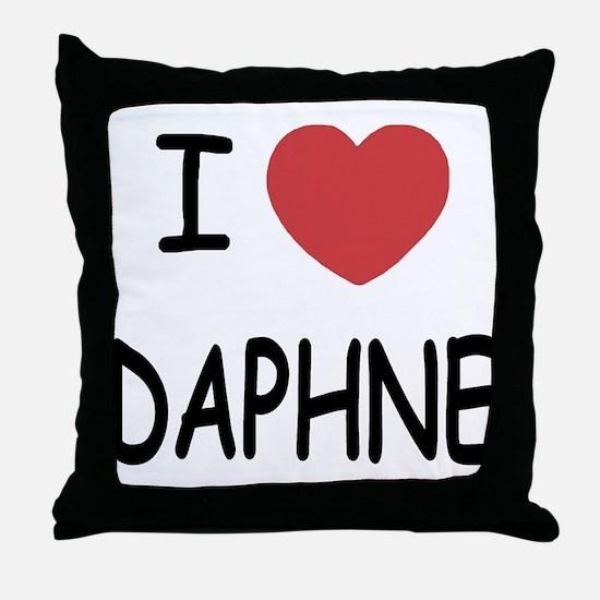 I heart DAPHNE Throw Pillow