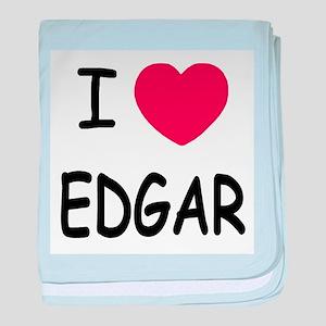 I heart EDGAR baby blanket