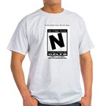 Video Game Is Rated N Ash Grey T-Shirt