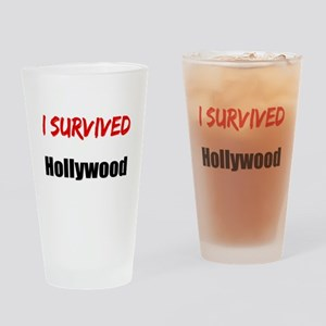 I survived HOLLYWOOD Drinking Glass