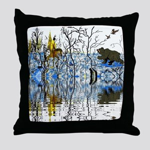 Native American Warrior Throw Pillow