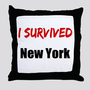 I survived NEW YORK Throw Pillow