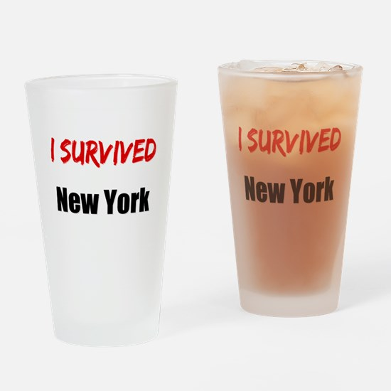 I survived NEW YORK Drinking Glass