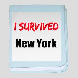 I survived NEW YORK baby blanket