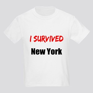 I survived NEW YORK Kids Light T-Shirt