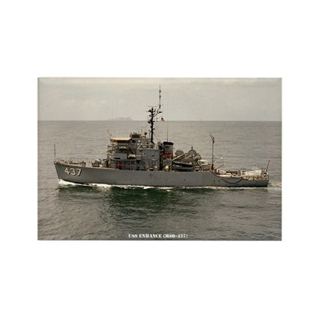 USS ENHANCE Rectangle Magnet