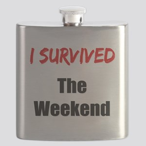 I survived THE WEEKEND Flask