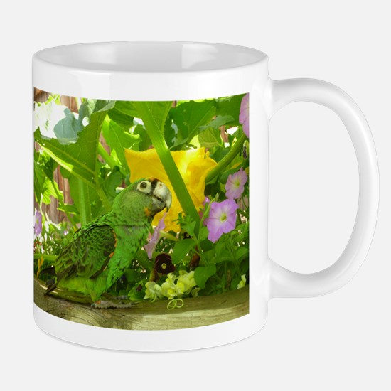 Parrot in the pumpkin patch Mug