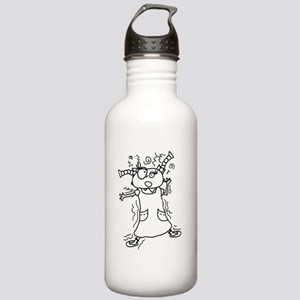 """""""Stressed for Success!"""" Stainless Water Bottle 1.0"""