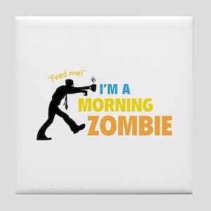 Morning Zombie Tile Coaster