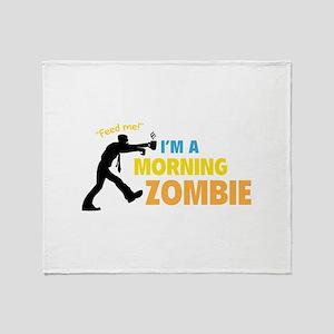 Morning Zombie Throw Blanket