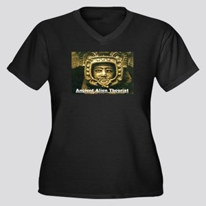 Ancient Aliens Women's Plus Size V-Neck Dark T-Shi