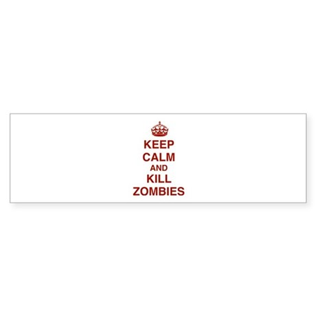 Keep Calm And Kill Zombies Sticker (Bumper)