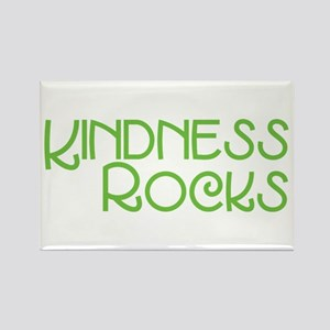 Kindness Rocks, Lime Rectangle Magnet