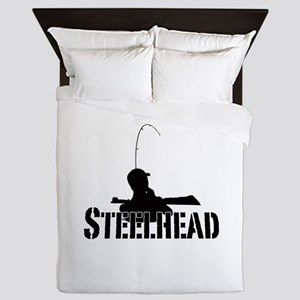 Steelhead fishing Queen Duvet