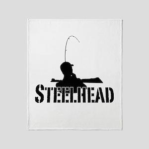 Steelhead fishing Throw Blanket