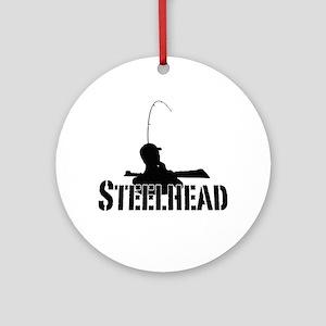 Steelhead fishing Ornament (Round)
