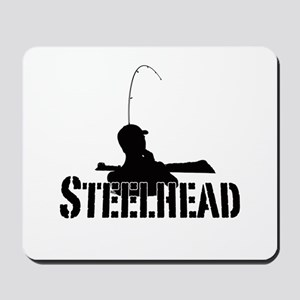 Steelhead fishing Mousepad
