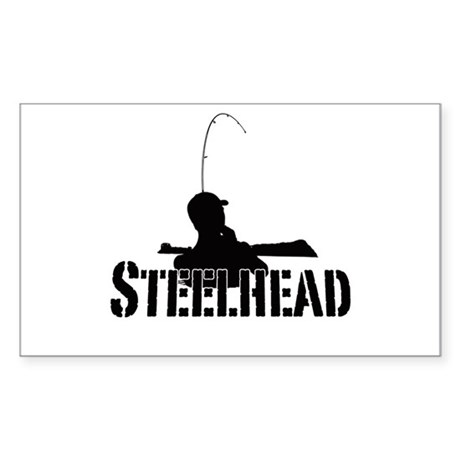 Steelhead fishing Sticker (Rectangle)