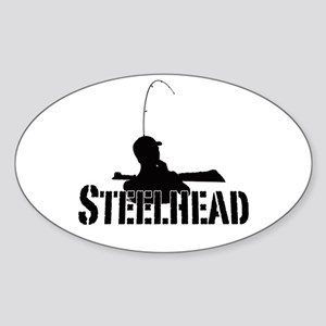 Steelhead fishing Sticker (Oval)