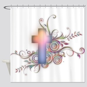 Colorful Cross Shower Curtain