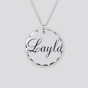 Layla Personalized Necklace Circle Charm