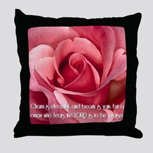 Proverbs 31 Throw Pillow