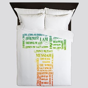 Names of Jesus Cross Queen Duvet
