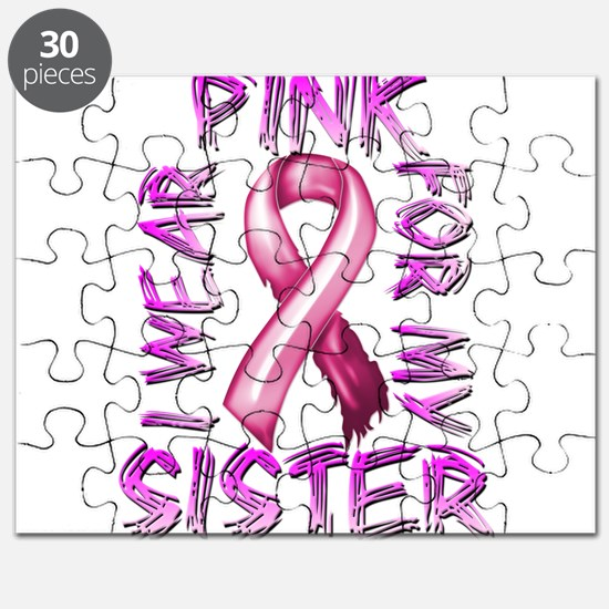 I Wear Pink for my Sister Puzzle