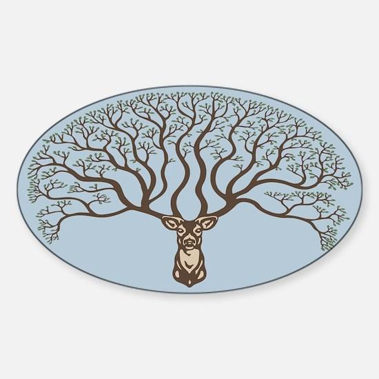 Dear Tree Sticker (Oval)