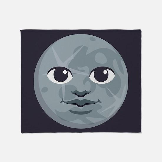Moon Emoji Throw Blanket