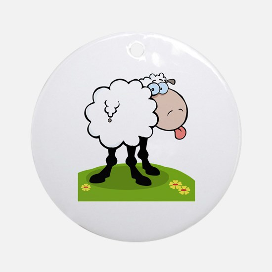 Sheep Ornament (Round)